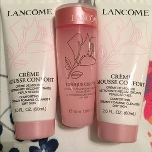 Lancome Other - LANCÔME 2) FOAMING CLEANSERS & 1) TONER, DRY SKIN