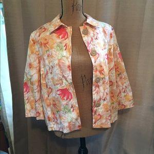 Final Price! NWOT Cold Water Creek floral jacket!