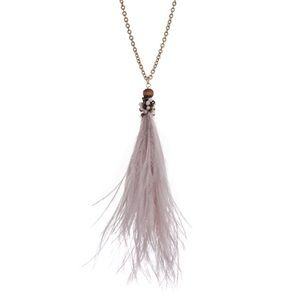 Jewelry - 🌅📿Dusty Plum Feather Tassel Pendant Necklace