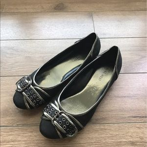 Nine West Shoes - Nike west belt leather flats Loafers 7M Charcoal