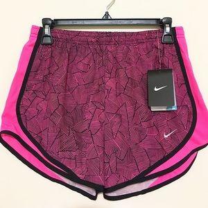 Nike Dri fit Pink printed running shorts size S