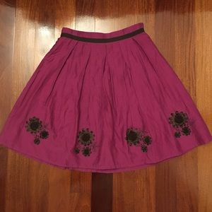 Mini Boden Other - Mini Boden Fusia Long Skirt w Brown Flowers 13-14Y