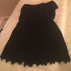 Other - Black strapless lace romper M nwt never worn