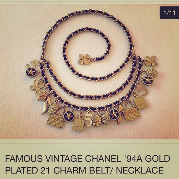 a0de59817a06 CHANEL Accessories - Authentic Chanel chain belt vintage CC logos
