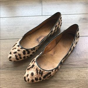 Madewell leopard pattern Faux leather flats