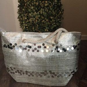 Handbags - Silver travel/beach bag