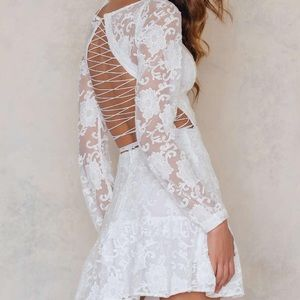 For Love and Lemons Dresses & Skirts - For love and Lemons White Jolene dress small