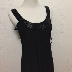 Bisou Bisou Dresses & Skirts - Bisou Bisou Beaded and Knit Little Black Dress