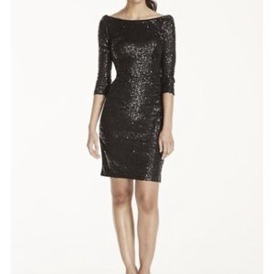 Brand new sequin 3/4 length dress