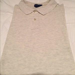 J.CREW Light Grey Short Sleeve Polo