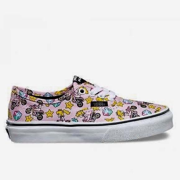 NIB Vans Mario Bros. Princess Peach Shoes f2ffdb81e