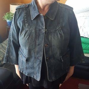 Motto denim jacket.
