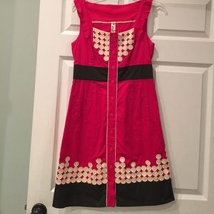 Pink Anthropologie sundress with pockets