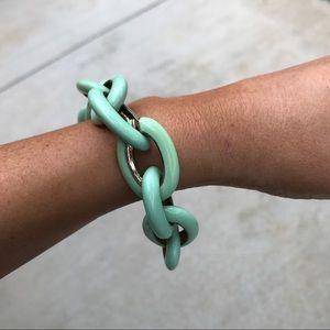 Jewelry - Mint enamel link bracelet