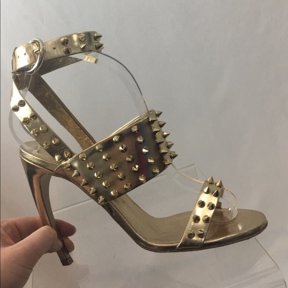 Gold Studded Heels