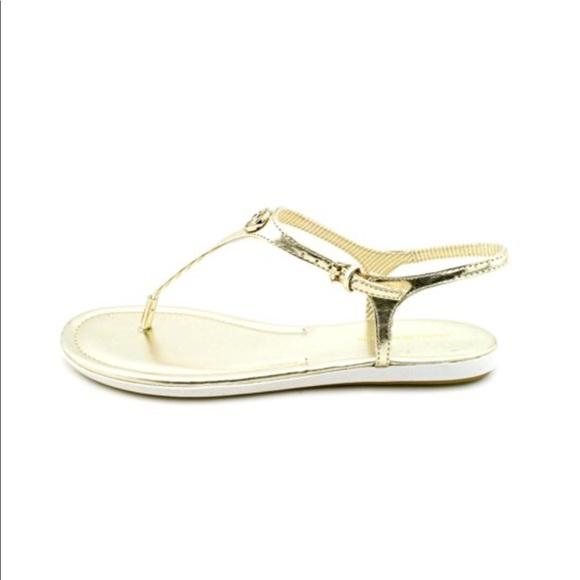 5bf32e44c tommy hilfiger • gold  paloma  sandals. M 593784d2bf6df5e35d032d69
