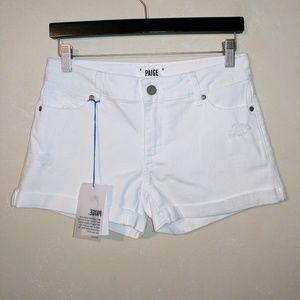 Paige Jeans Pants - Paige Jimmy Jimmy Benny White Destructed Shorts