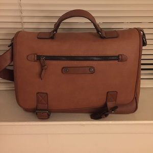 Cognac Laptop Messenger Bag