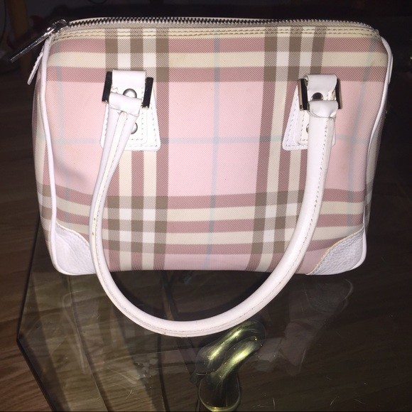 Burberry Handbags - Burberry Pink Candy Nova Check Mini Boston Bag 38520b529c8e8