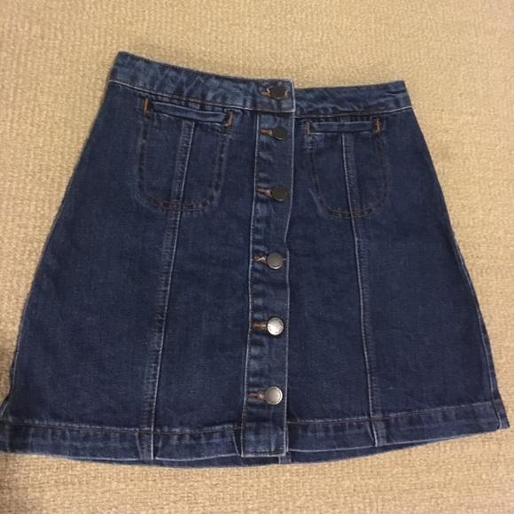 f3e1e1c2de Top shop high waisted denim skirt. M_59376f5cc6c7952f2e05af0f