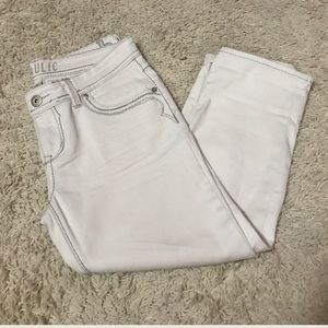 Hydraulic Denim - White Hydraulic Capri Jeans