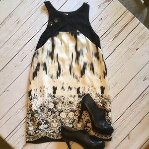 silence + noise Dresses & Skirts - Black and white dress with peek a boo front & back
