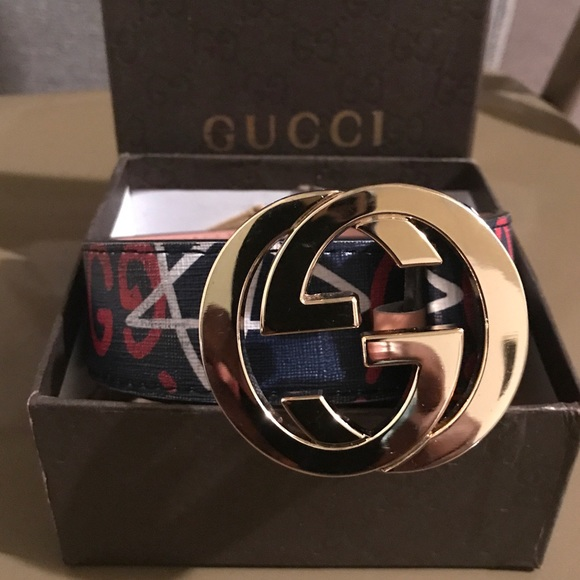 f97d3ff745e Gucci Other - Authentic Blue Red Gucci Belt
