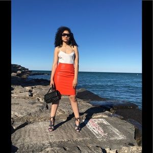 . Dresses & Skirts - Faux Leather Pencil Skirt