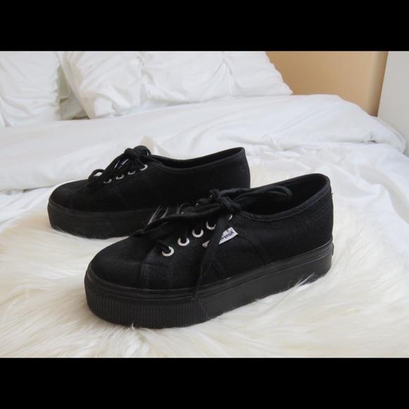 6b869580daa Superga Black Platform Sneakers Size 6 in Women. M 593774413c6f9fbabf02faff