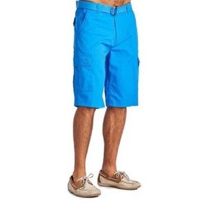 Other - Blue Belted Cargo Shorts