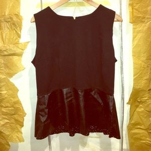 Apt. 9 black peplum top