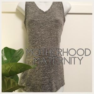 Motherhood Maternity Tops - Long stretchy maternity tank top heathered gray