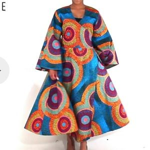 African Print WrapArnd Dress Plussize - Firm Offer Boutique