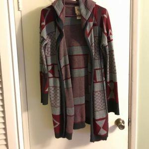 Billabong hooded knit cardigan sweater