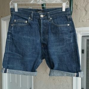 A.P.C. Pants - A.P.C. Standard Cut-off Jean Shorts Selvedge Denim