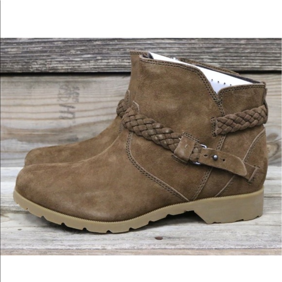 26de8578647b9 Teva Delavina Suede Bison Waterproof Ankle Boot 🐵