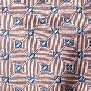 "Jos A Bank Executive  Mens Pink &  Blue Tie, 61"""