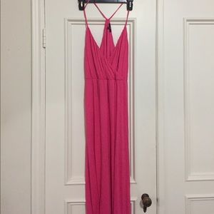 GAP hot pink maxi dress