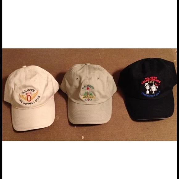 eed71aa6896 Us Open UsGa Member Strap Back Hat Lot Of 3 Men s
