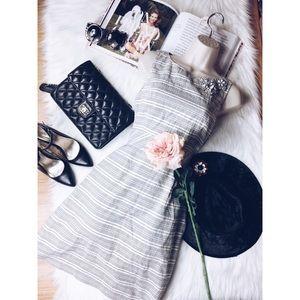 Lavender Label Vera Wang Striped Jewel Dress 4