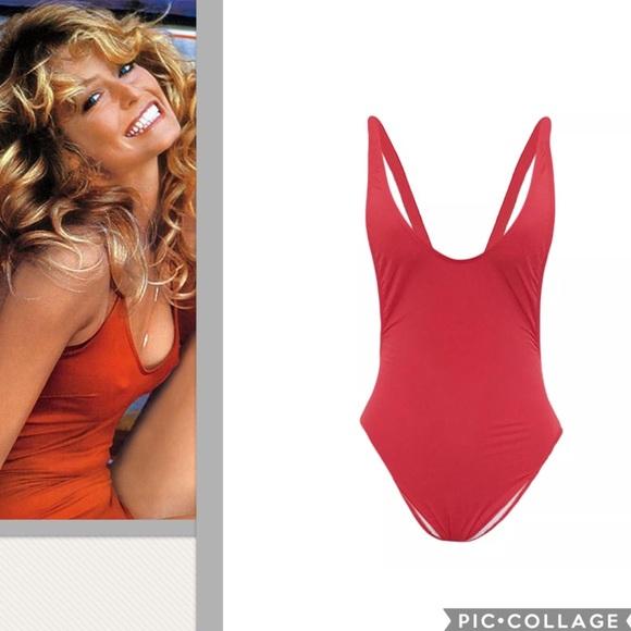 d0286eba8aee3 Swim   Salethe Farrah Iconic Red One Piece Suit   Poshmark