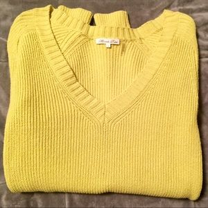 Yellow Green Minnie Rose Sweater - S - worn once!