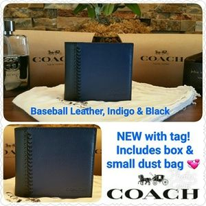 Coach Other - *SALE* Coach Baseball Stitch Wallet w/passcase