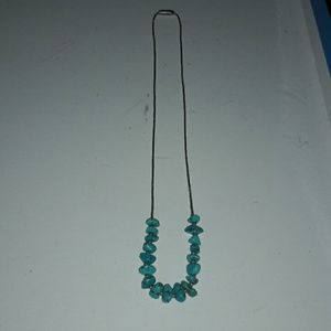 Vintage turquoise sterling liquid silver necklace