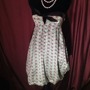 Betsy Johnson Silk Strapless Butterfly Dress