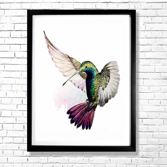 Hummingbird Art Print Contemporary Home