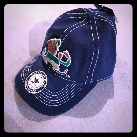 a6216ad32c967 adidas Accessories | New Navy Blue Leprechaun Notre Dame Hat | Poshmark