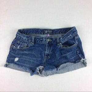 VS PINK distressed cut off denim shorts