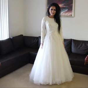 Wedding gown couture made, with beaded lace!