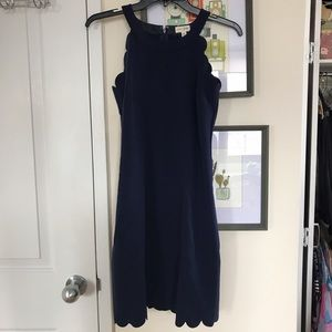 REDUCED Navy Scallop Dress